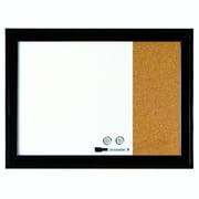 Quartet Home Dcor Magnetic Combination Board 17 x 23 Dry-Erase Cork Ebony Frame