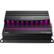 JENSEN XDA94RB Class D 4 Channel Bridgeable Amplifier with 80 Watts x 4 RMS and 1000 Watts Peak Power and RGB Illumination & System Control via Bluetooth App