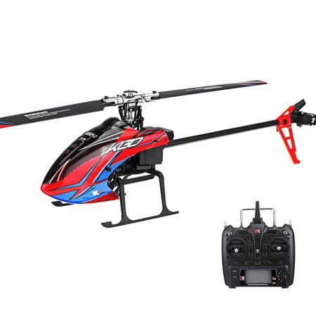 XK K130 2.4G 6CH Brushless 3D6G System Flybarless RC Helicopter RTF Compatible with FUTABA S-FHSSRTF Super Combo Gifts