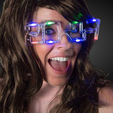 2017 New Years LED Light Up Glasses - Led New Years 2017