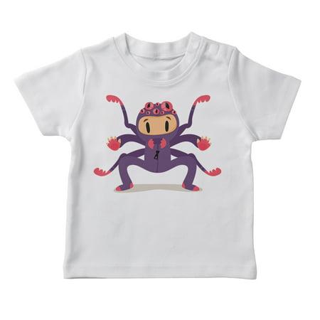 Cute Cartoon Boy In A Spider Costume Boy's White Halloween T-shirt for $<!---->