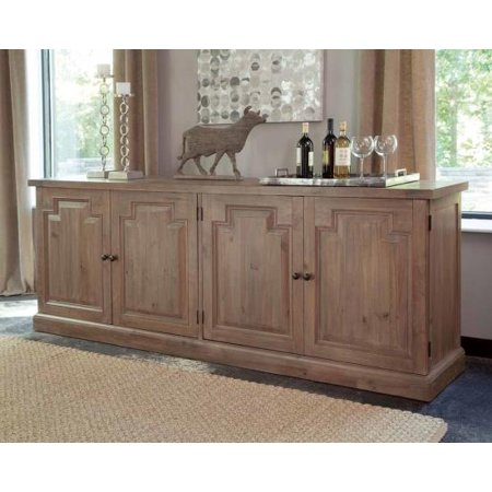- Simple Relax Florence Dining Buffet Server Sideboard Raised Panel Nested Drawers Rustic Smoke
