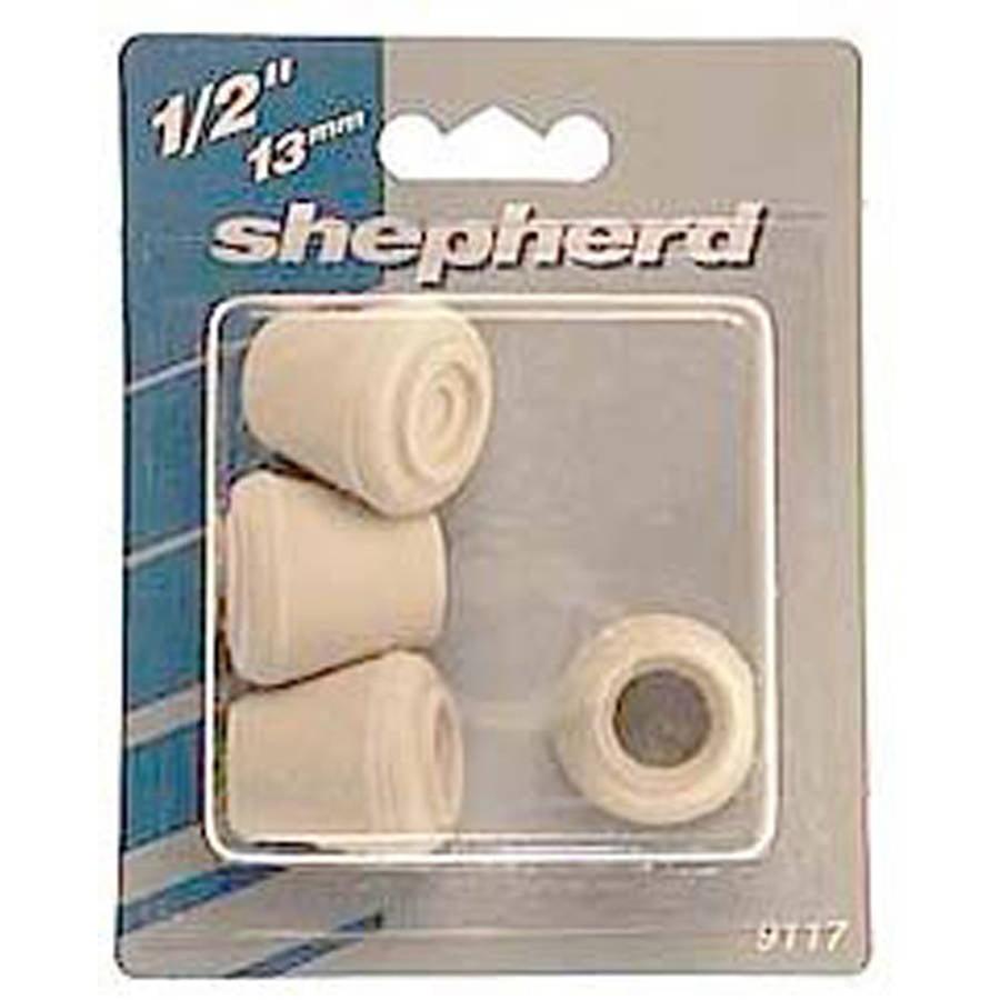 """Shepherd 9127 7/8"""" Black Rubber Leg Tips, 4 Count"""