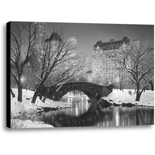 Ashton Wall D cor LLC Twilight in Central Park by Rod Chase Photographic Print on Wrapped Canvas