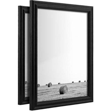 Craig Frames Wiltshire 200, Traditional Black Hardwood Picture Frame, Set of (Gloss Black Fade Frame)