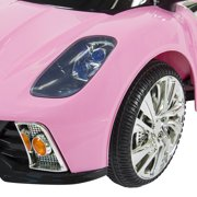 12v ride on car kids w mp3 electric battery power remote control rc pink image
