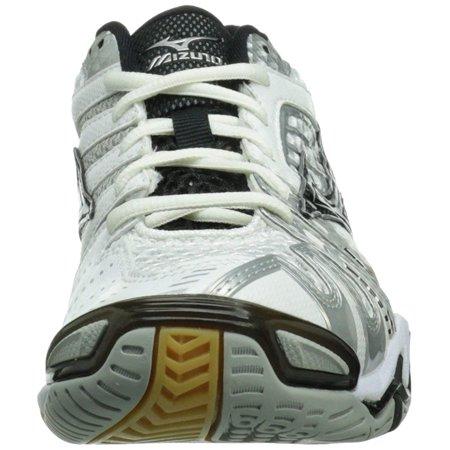 Mizuno Women's Wave Tornado 8 White/Black Ankle-High Racquetball Shoe - 7M - image 1 de 2