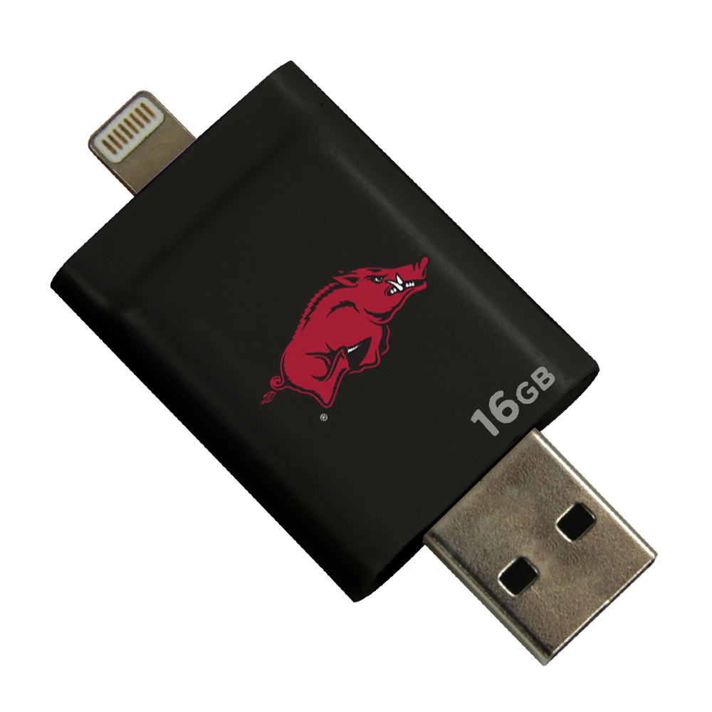 Arkansas Razorbacks i-FlashDrive HD USB Drive 16GB - Black