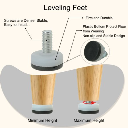 M10 x 20 x 30mm Leveling Feet Floor Thread Stem Protector for Furniture Leg 8pcs - image 1 of 8