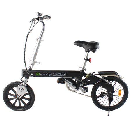 Costway 180W Lightweight Folding Electric Sporting Bicycle EBike Speed Lithium