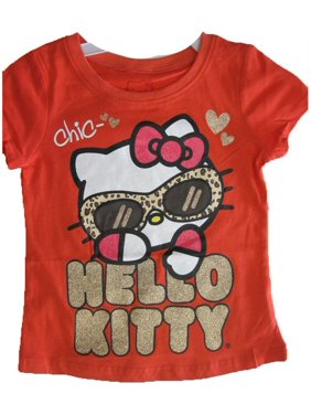 1e46aa874 Product Image Little Girls Red Glitter Letters Leopard Spot T-Shirt 4-6X