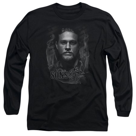 Sons Of Anarchy Crime Drama Series Jax In Smoke Adult Long-Sleeve