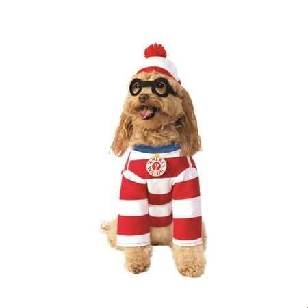 Where's Waldo Woof Dog Halloween Costume](Dog Carrying Present Halloween Costume)
