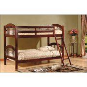 83 in. Twin Over Twin Bunk Bed in Cherry Finish