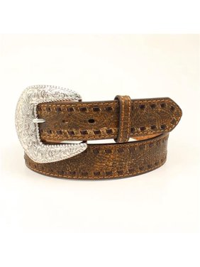 6528a2651f2 Product Image Nocona N3412902-M Ladies Rustic Laced Edge Belt