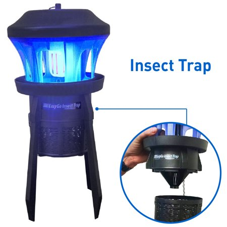 EasyGoProducts Insect Trap-Insect, Mosquito, Fly, Bug Killer-Indoor/Outdoor up to 1/2 Acre - Whisper Quiet Suction Fan ()