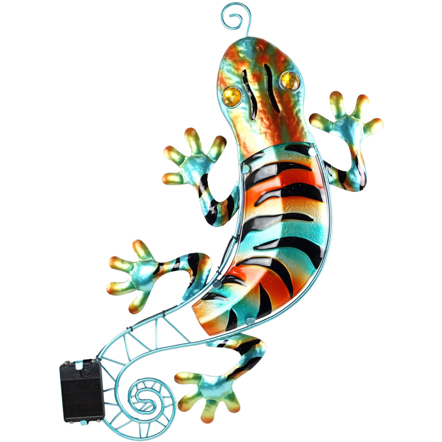 Moonrays 92343 Solar Powered White LED Gecko Wall Art
