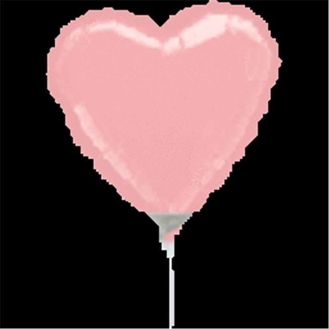 Anagram 41112 9 in. Pastel Pink Heart Flat Foil Balloon