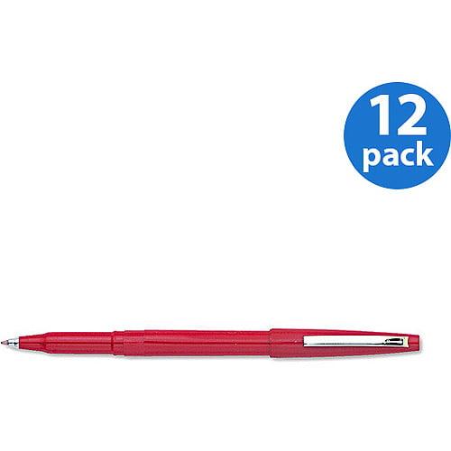 Pentel Rolling Writer Roller Ball Capped Pen, Medium, 12pc