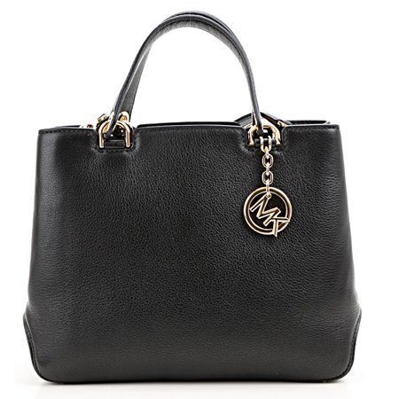36d0134f71 Michael Kors - Anabelle Medium Top-Zip Leather Tote Bag - Black -  30S6GAPT2L-001 - Walmart.com