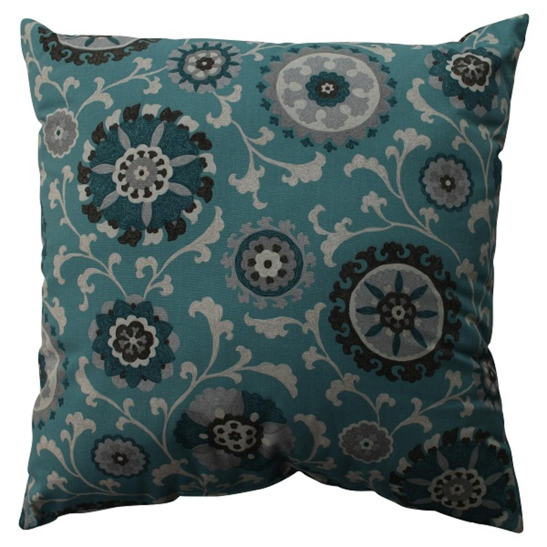 "23"" Teal Frenzy Decorative Floor Pillow"