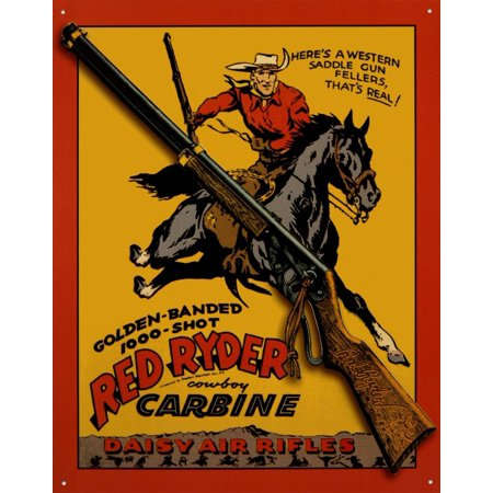 Daisy Red Ryder Carbine Tin Sign 13 x 16in   , By Tin Signs Ship from US