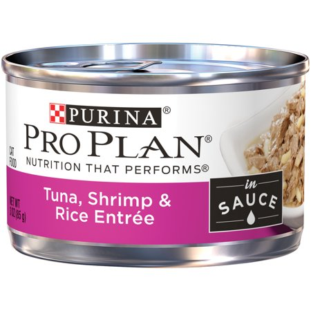 Purina Pro Plan Tuna, Shrimp & Rice Entree in Sauce Adult Wet Cat Food - (24) 3 oz. Pull-Top - Halloween Entrees For Adults