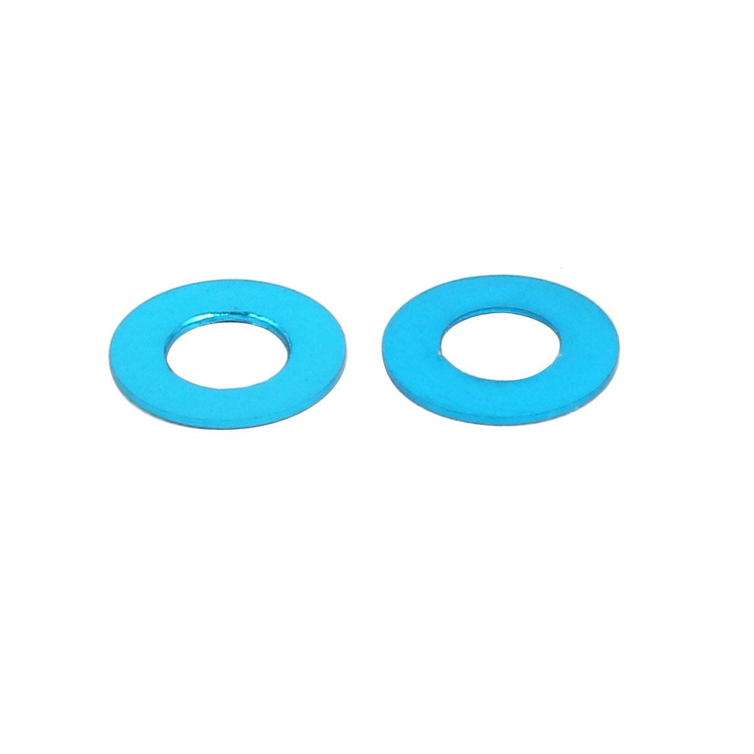 10Pcs 0.25mm Epaisseur M3 alliage aluminium plat Fender Vis Rondelle Bleu Ciel - image 1 de 2