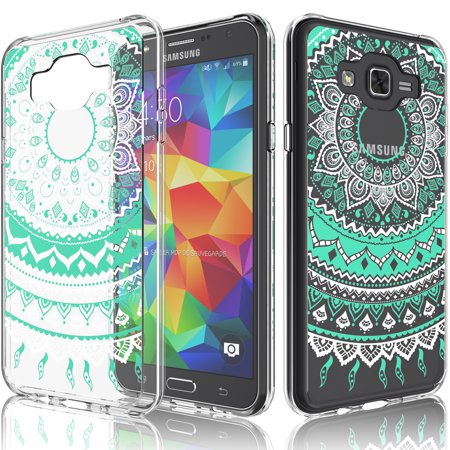 J7 Case, Galaxy J7 Case For Girls, Tekcoo [TFlower] Transparent Cute Lovely Adorable Ultra Slim Clear Hard TPU Skin Scratch-Proof Bumper Phone Cover Cases For Samsung Galaxy J7 2015 J7008