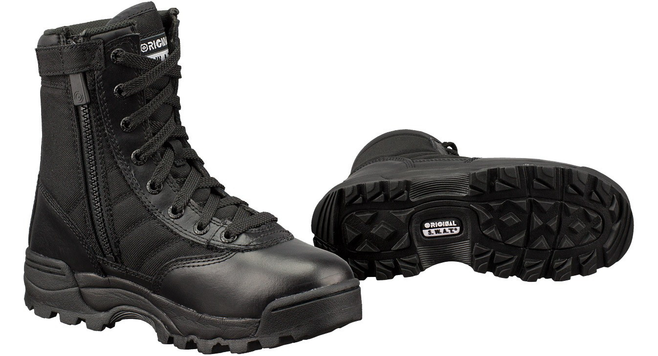 "Original S.W.A.T. 115211 Classic 9"" Side-Zip Womens Black Work Boot-10.5 by Original SWAT"
