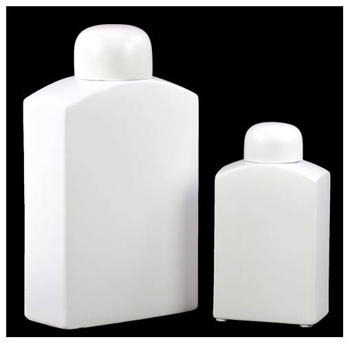 Urban Trends 2-Piece Ceramic Jar Set in White