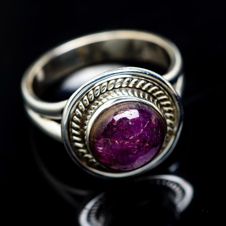 - Star Ruby Ring Size 7 (925 Sterling Silver)  - Handmade Boho Vintage Jewelry RING944503