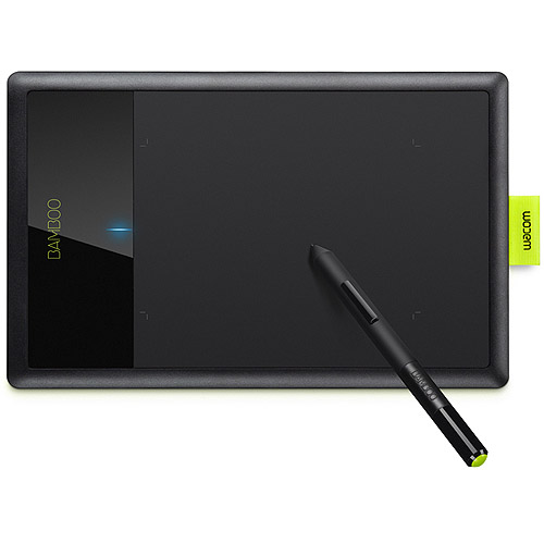 Wacom Bamboo Splash Digital Tablet, Black/Lime