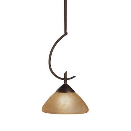 Kichler Olde Bronze Pendant - Kichler Olympia Mini Pendant Light - 8W in. Olde Bronze