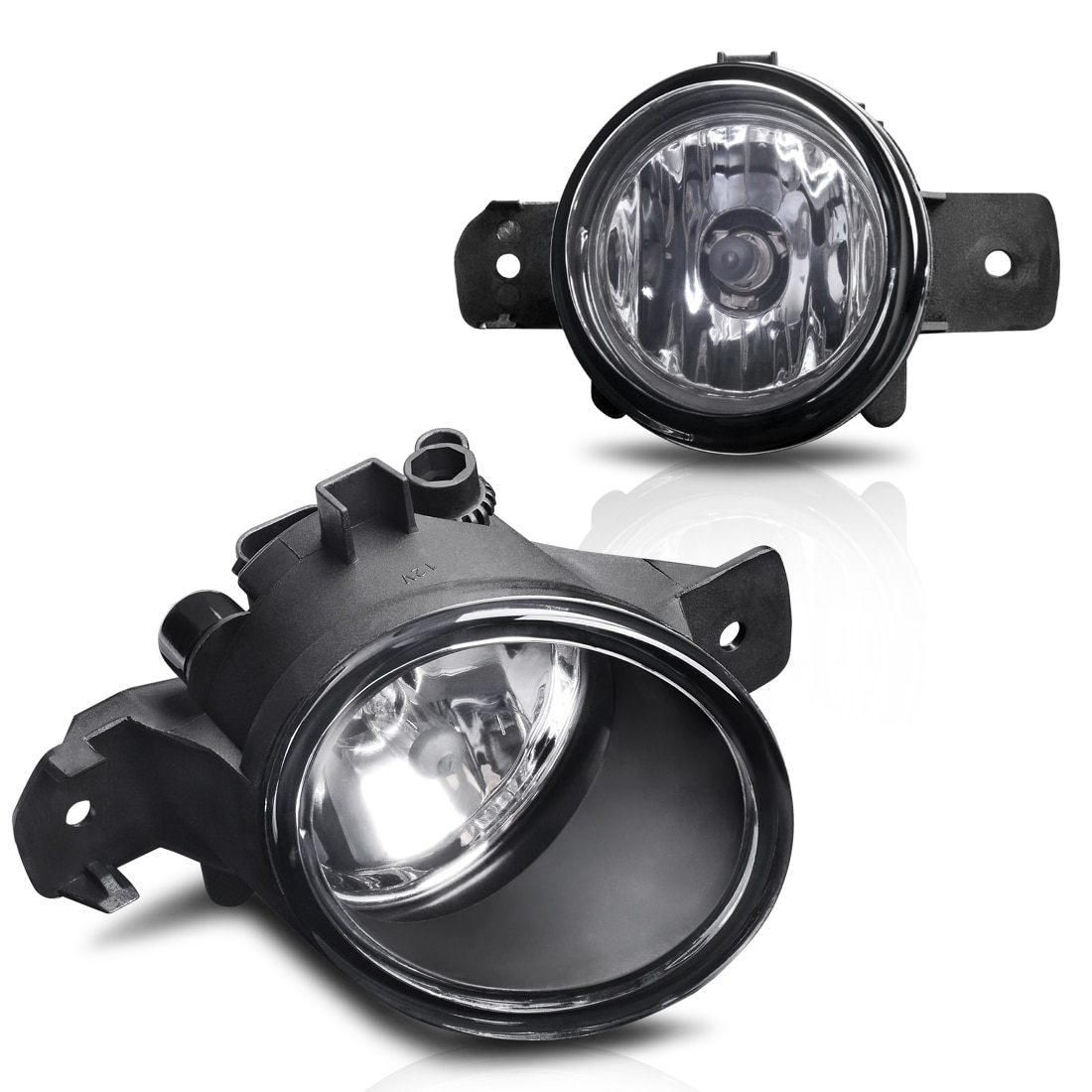 For Nisasn Maxima Clear Driving Fog Lights Driver//Passenger Lamps with Bulbs//Bezel//Switch