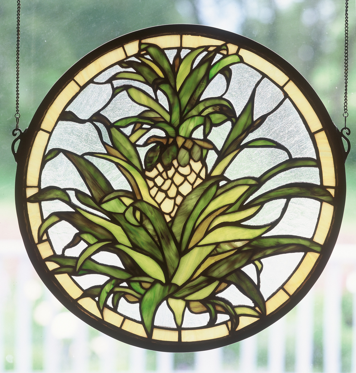 Meyda Tiffany 48550 Stained Glass Tiffany Window from the Country Living Collection