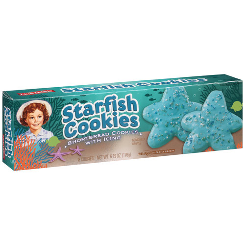 Little Debbie Starfish Cookies, 8 count, 6.19 oz