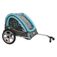 InSTEP Take 2 Bicycle Baby/Kids Pet Bike Trailer - Light Blue/Grey | QE127