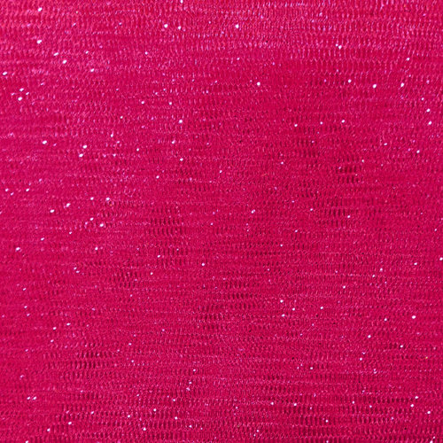 Party Time AP Polymesh Glitter Hot Pink Fabric