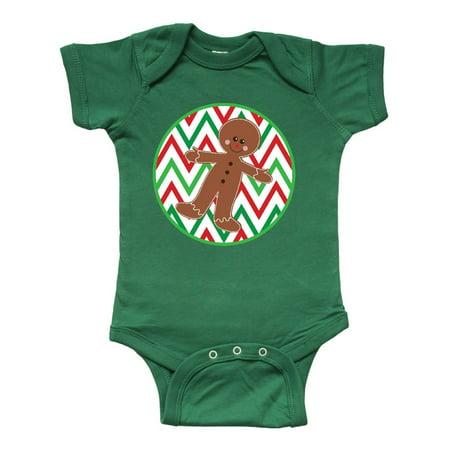 Christmas Gingerbread Chevron Infant Creeper (Baby Sh)
