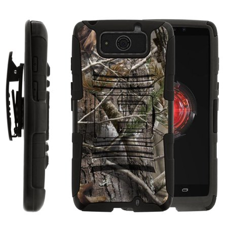 Motorola Droid Maxx | Droid Ultra Holster Case [ Clip Armor ] Dual Layer Rugged Case with Built in Kicsktand + Holster - Tree Bark Hunter
