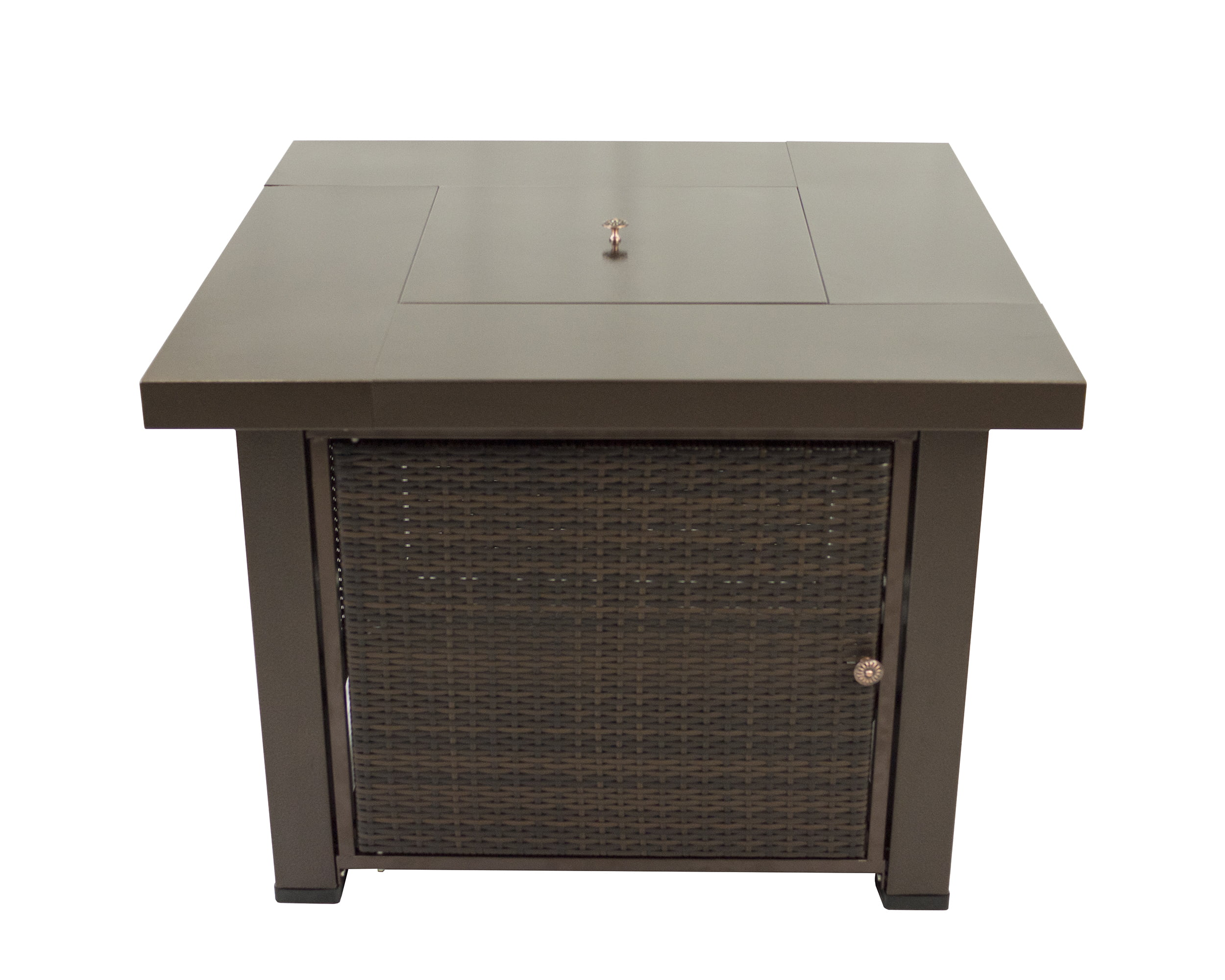 """Rio 38"""" Wicker and Bronze Gas Firepit Table by GHP Group, Inc."""
