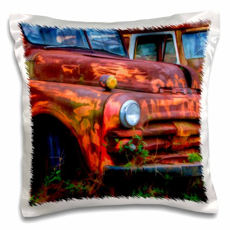 3dRose USA, Georgia, Rusty trucks, Classics, Old Car City - US11 JWL0585 - Joanne Wells, Pillow Case, 16 by 16-inch - Party City Georgia