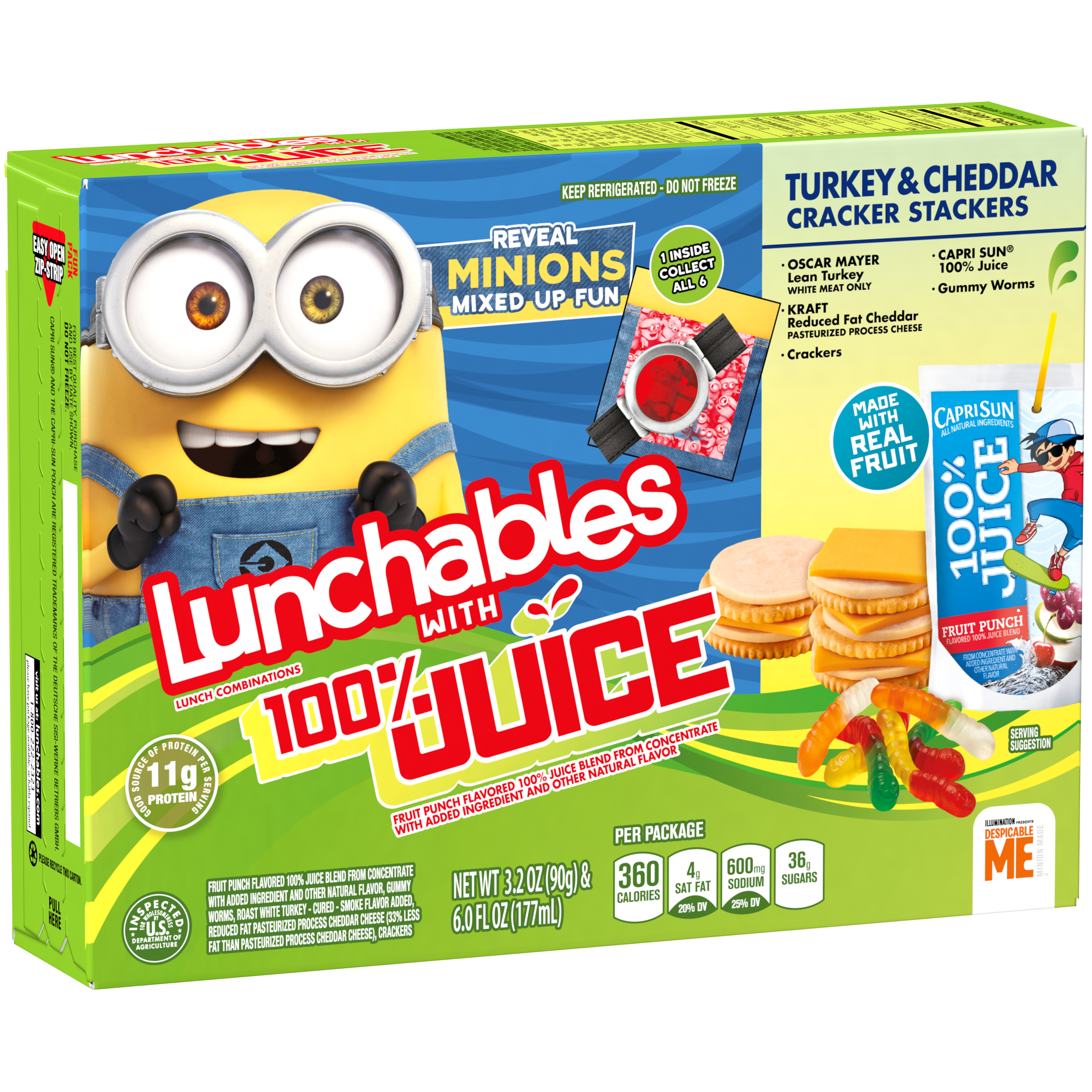 Lunchables Turkey & Cheddar Stacker Crackers with Capri Sun Fruit Punch 9.2 oz Box