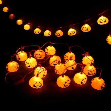 GlowSol Harvest Jack-O-Lantern Pumpkin String Lights 3m 16 LEDs Halloween Holiday Decoration Lights - Halloween Harvest Festival