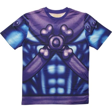 He Man Skeletor Sublimated Costume T-Shirt Sheer - He-man Adult Costume