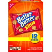 Nabisco Nutter Butter Bites Peanut Butter Sandwich Cookies, 1 Oz., 12 Count