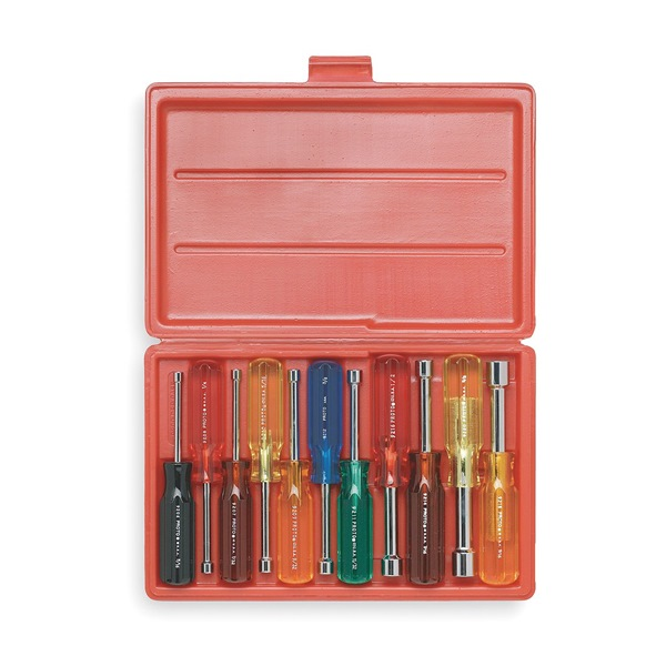 Nut Driver Set, 3/16-5/8 In, 11 Pc