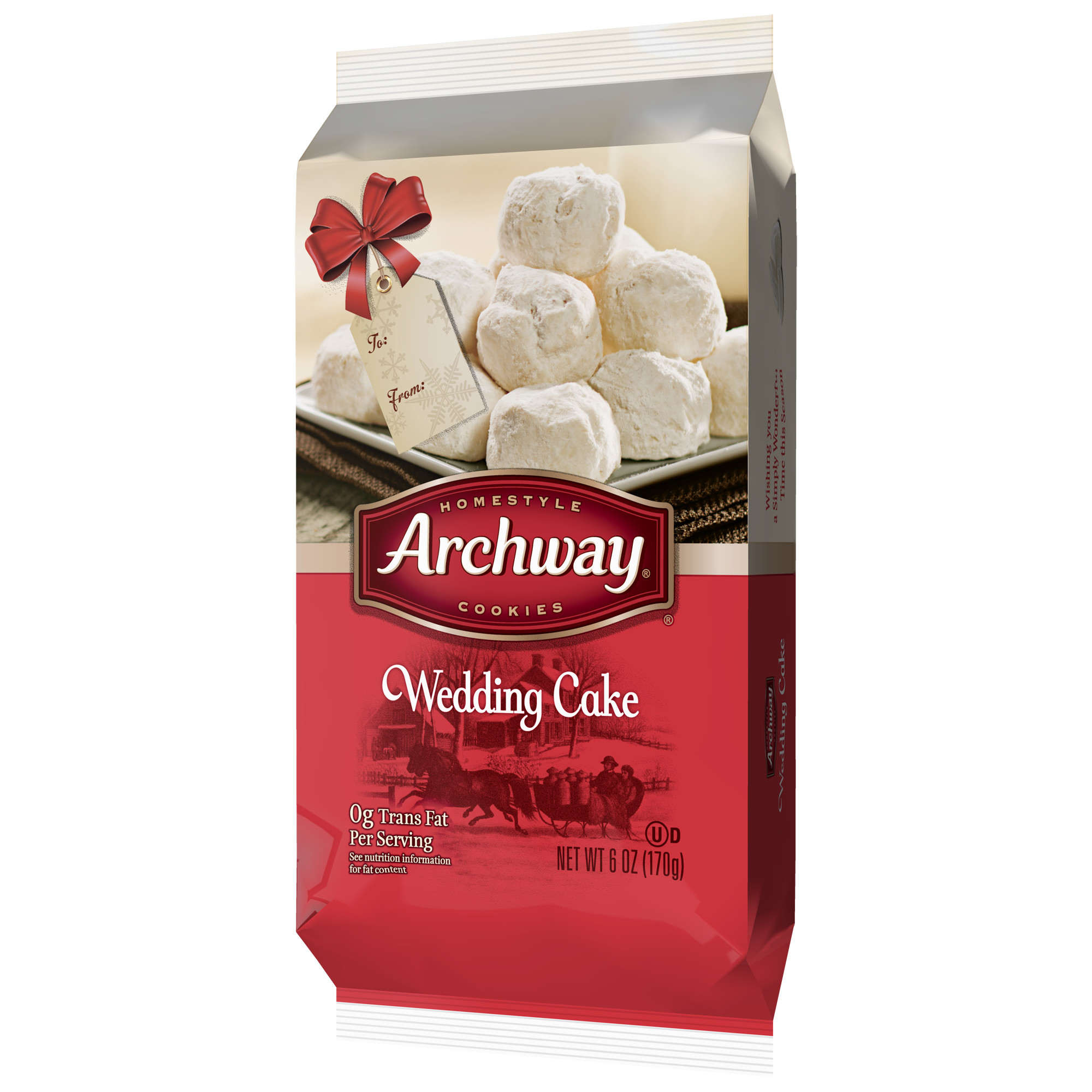 Archway Wedding Cake Cookies, Holiday Limited Edition, 6 Oz ...
