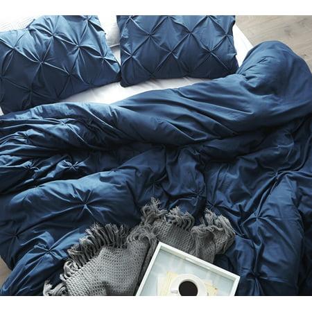 BYB Nightfall Navy Pin Tuck Duvet Cover ()